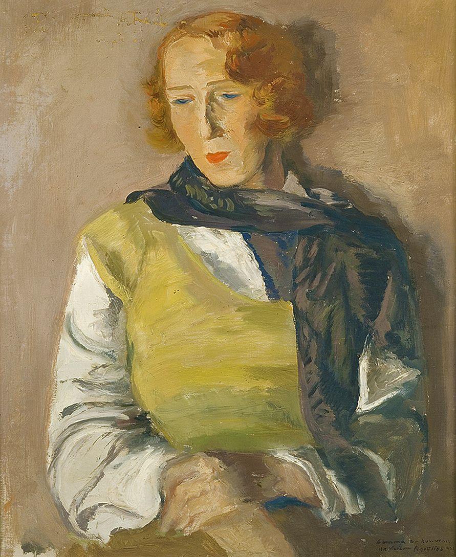 Леопольд Ґоттліб. Жінка з рудим волоссям, 1933; олія, полотно