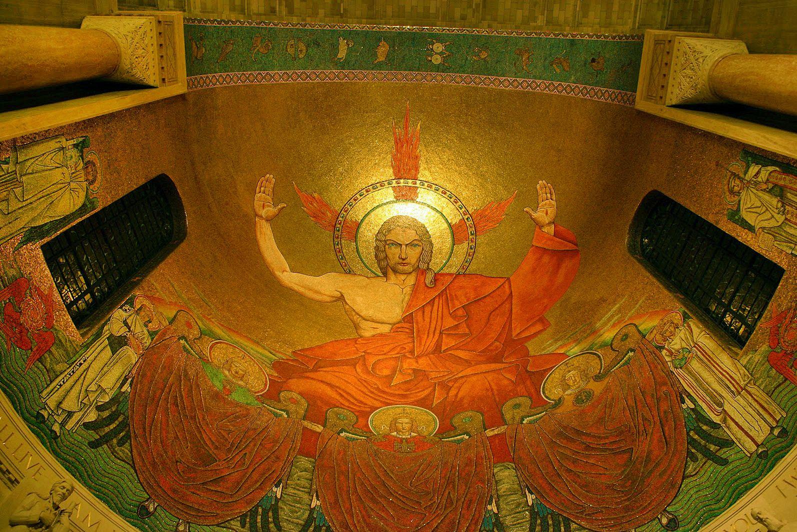 Ян Генрик Розен. Христос у славі, мозаїка, Вашингтон