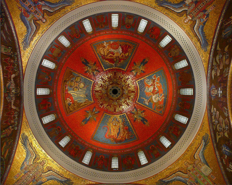 Ян Генрик Розен. Мозаїка купола собору Сент-Луи