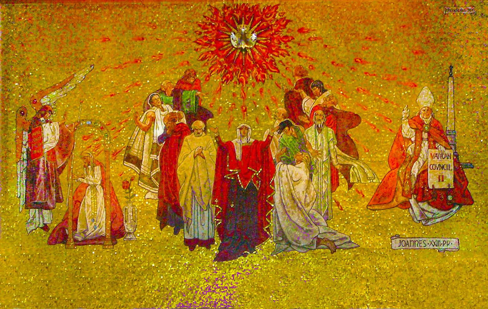 Ян Генрик Розен. Зішестя Святого Духа, 1964 мозаїка, часовня Анахайм