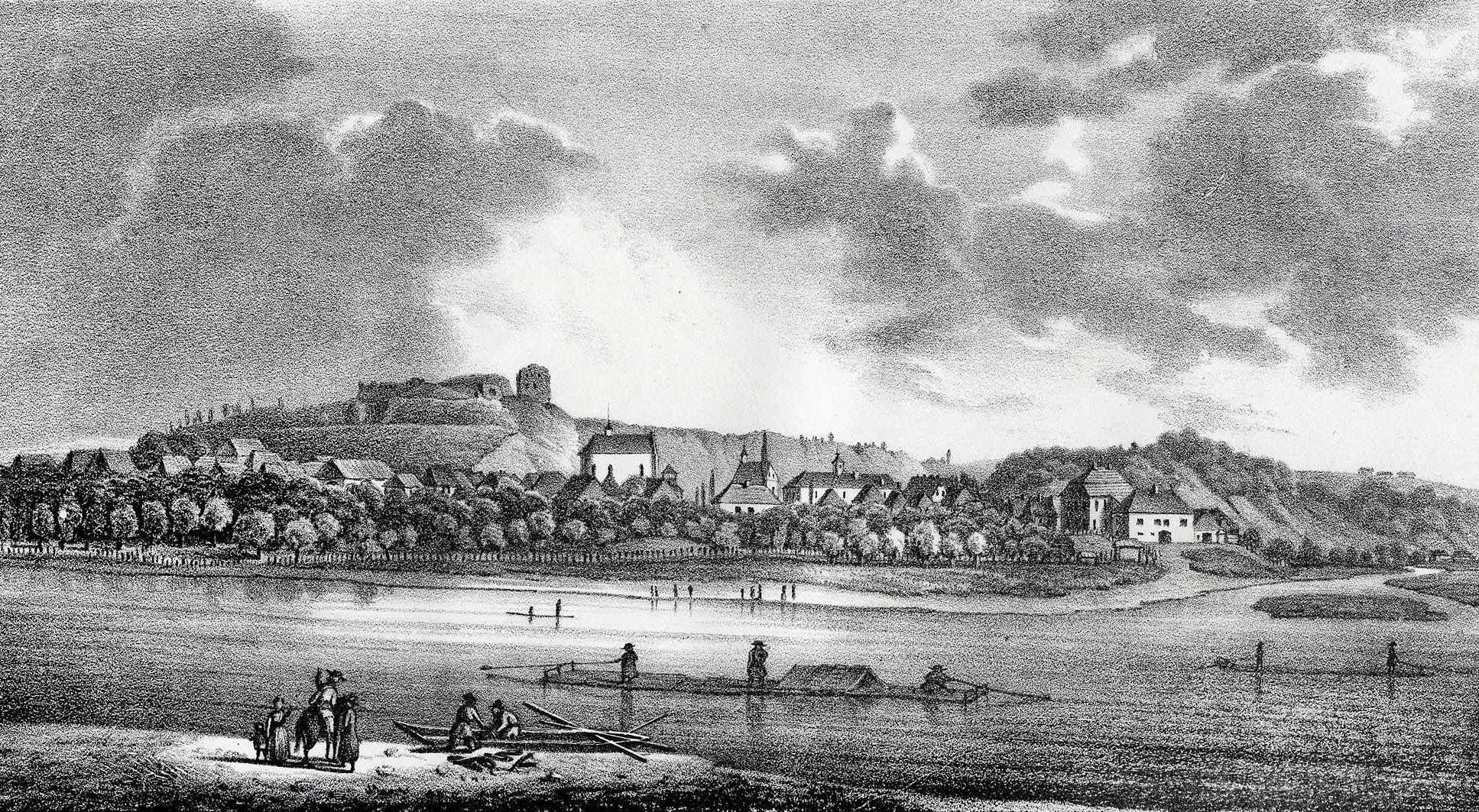 Мацей Боґуш Зиґмунт Стенчинський. Галич на Дністрі, 1847; літографія