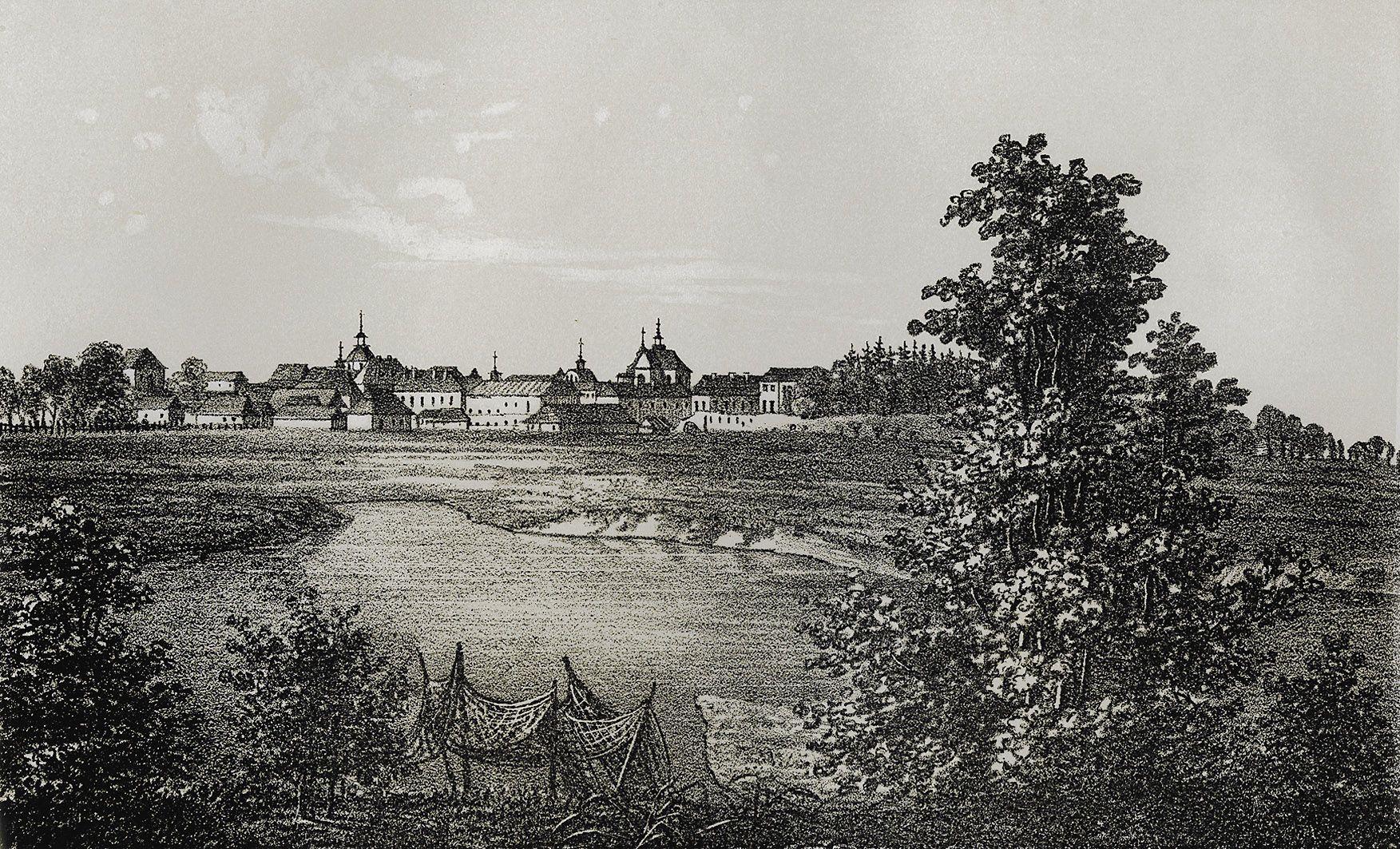 Мацей Боґуш Зиґмунт Стенчинський. Кристинопіль (тепер Червоноград), 1848; літографія