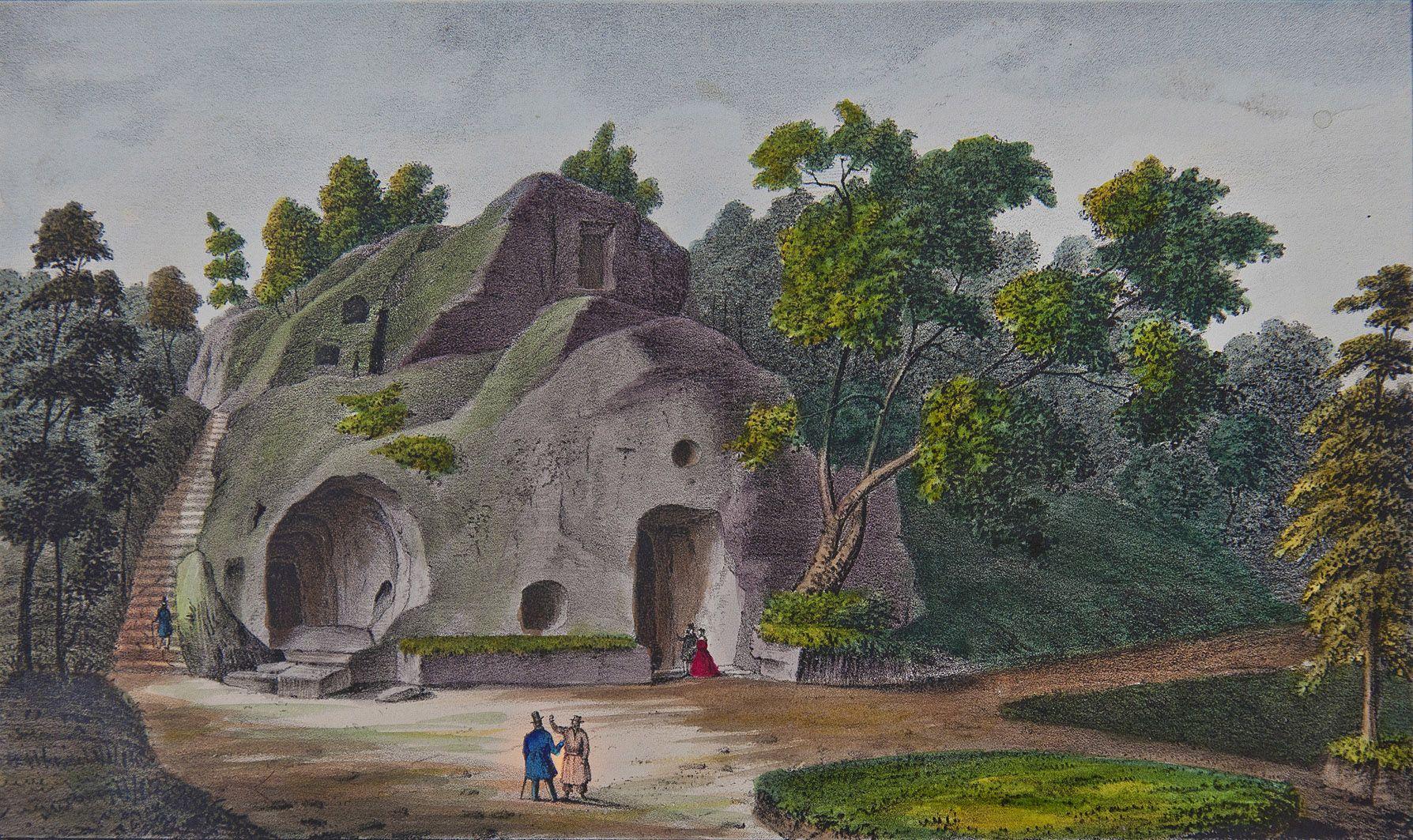 Мацей Боґуш Зиґмунт Стенчинський. Печерний монастир в Розгірче (Стрий), 1847; літографія