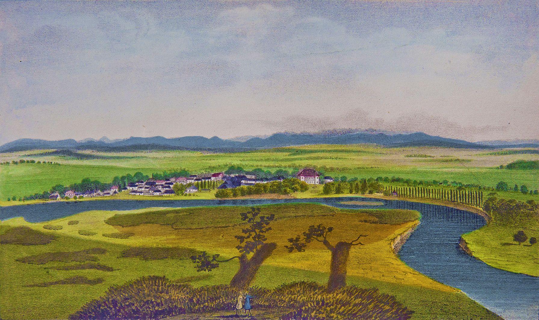 Мацей Боґуш Зиґмунт Стенчинський. Журавне на Дністрі 1847; літографія