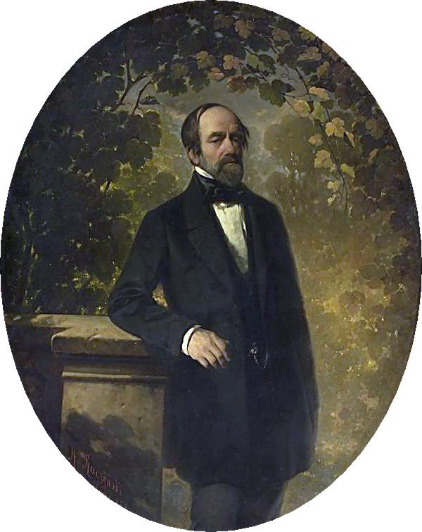 Александер Рачинський. Портрет Йосифа Богдана Залеського, 1864