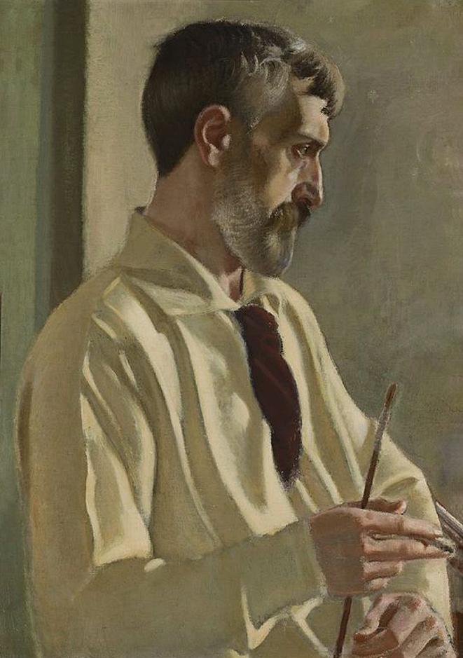 Станіслав-МечиславДембіцький. Автопортрет в профіль, 1914; олія, полотно; NMW