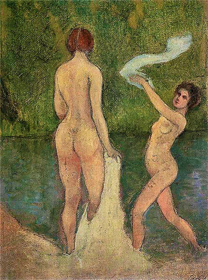 Станіслав-МечиславДембіцький. Купальщиці, 1910-ті; олія, полотно
