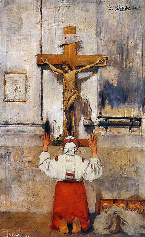 Станіслав-МечиславДембіцький. Молитва, 1887; олія, дошка; NMWr