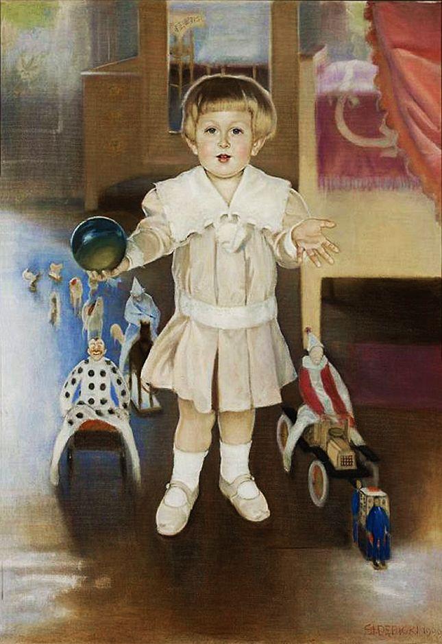 Станіслав-МечиславДембіцький. Портрет дитини, 1909; олія, полотно; NMW