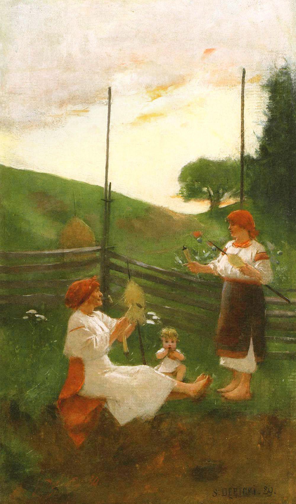 Станіслав-МечиславДембіцький. Веретено, 1889; олія, полотно; NMWr