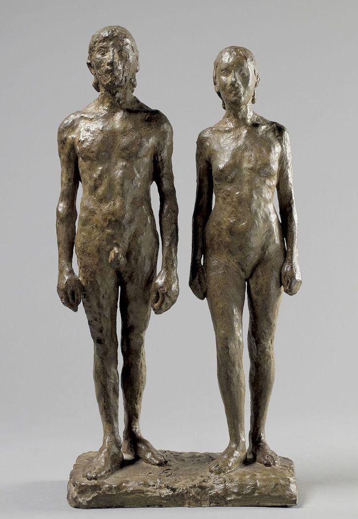 Леопольд Крец. Чоловік і жінка; бронза, h-63