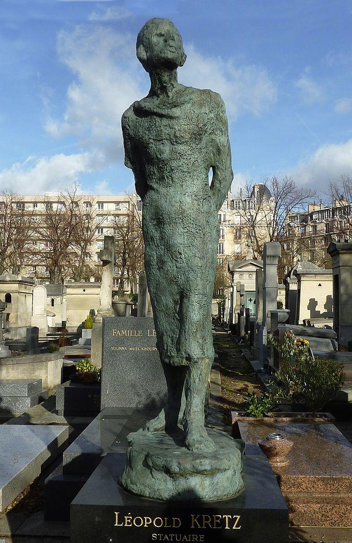 Леопольд Крец. Моя робота - моя молитва, кладовище Монпарнас; бронза