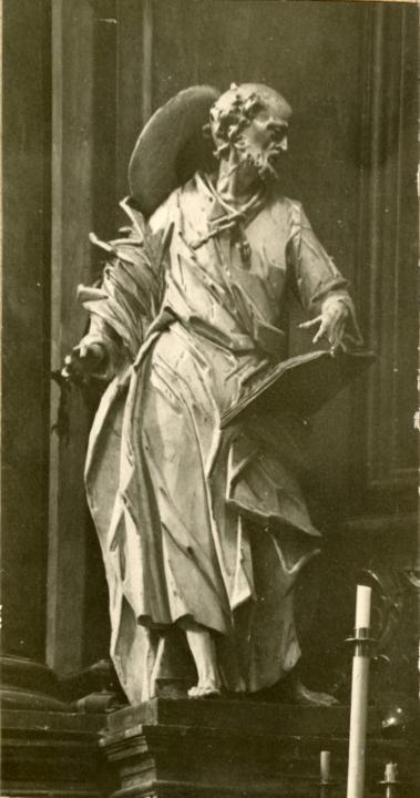 Матвій Полейовський. Фігура Св. Якуба. Львів, Латинська катедра, 1768