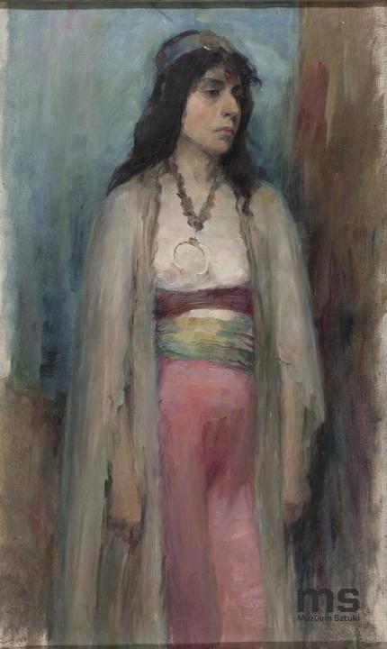 Анєля Пайонкувна. Циганка; олія, полотно. Музей мистецтв в Лодзі