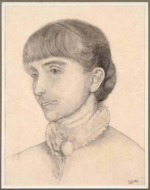 Анєля Пайонкувна. Автопортрет, 1882; папір, олівець