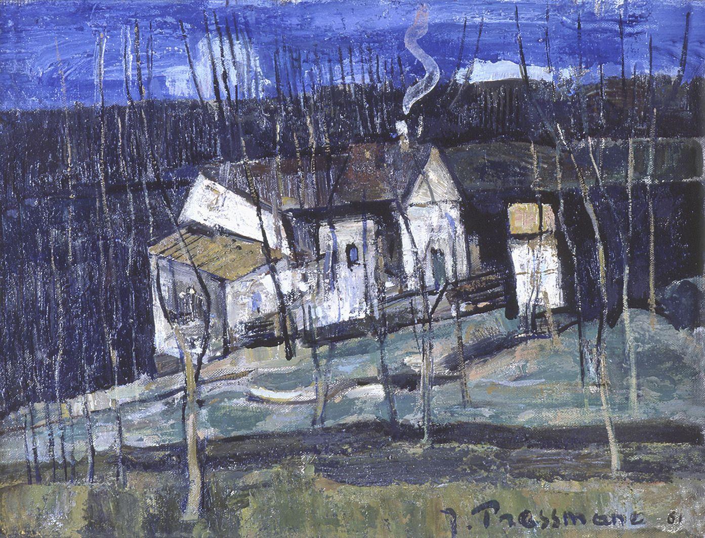 Жозеф Прессман. Ліс в Вільє-ле-Бель, 1961; олія, полотно