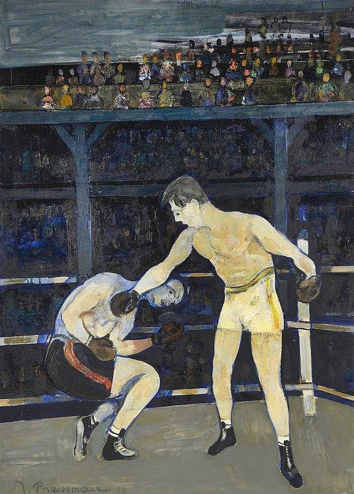 Жозеф Прессман. Бокс, 1957; олія, полотно