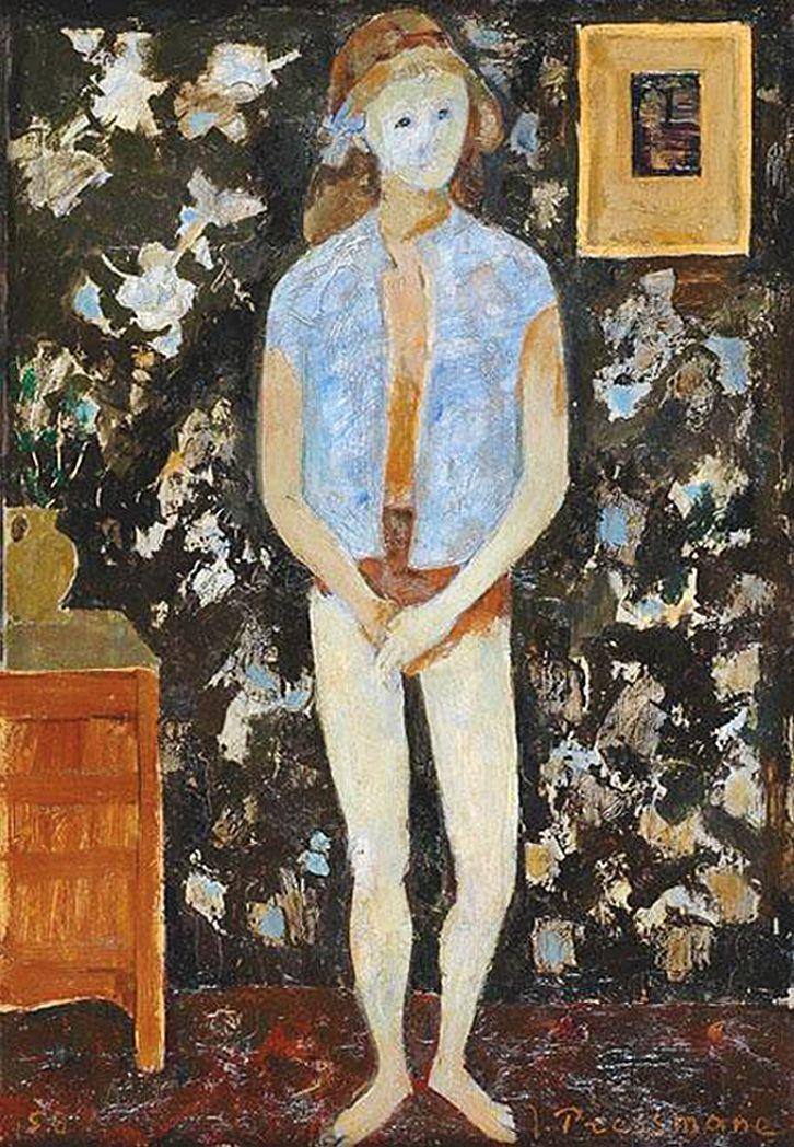 Жозеф Прессман. Дівчинка, 1958; олія, дошка