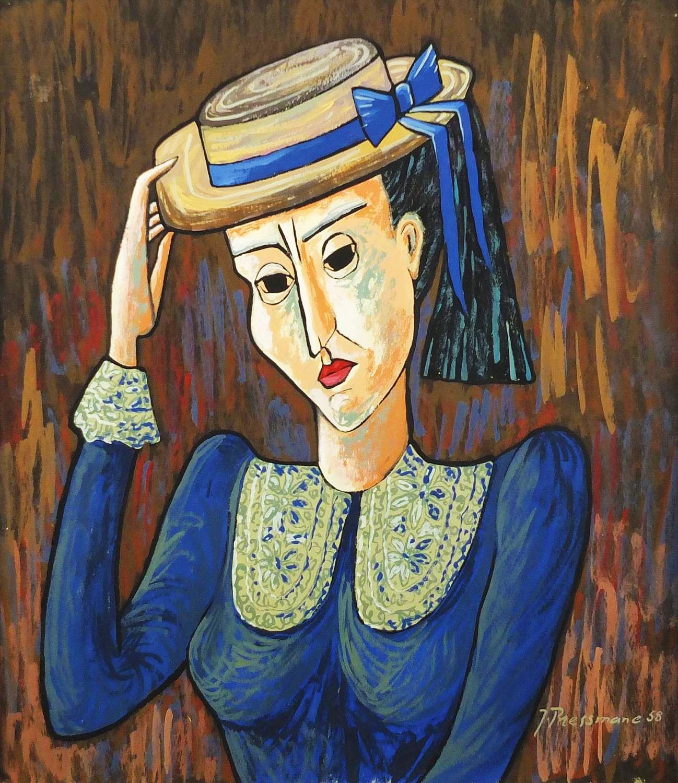 Жозеф Прессман. Портрет молодої жінки; олія, полотно