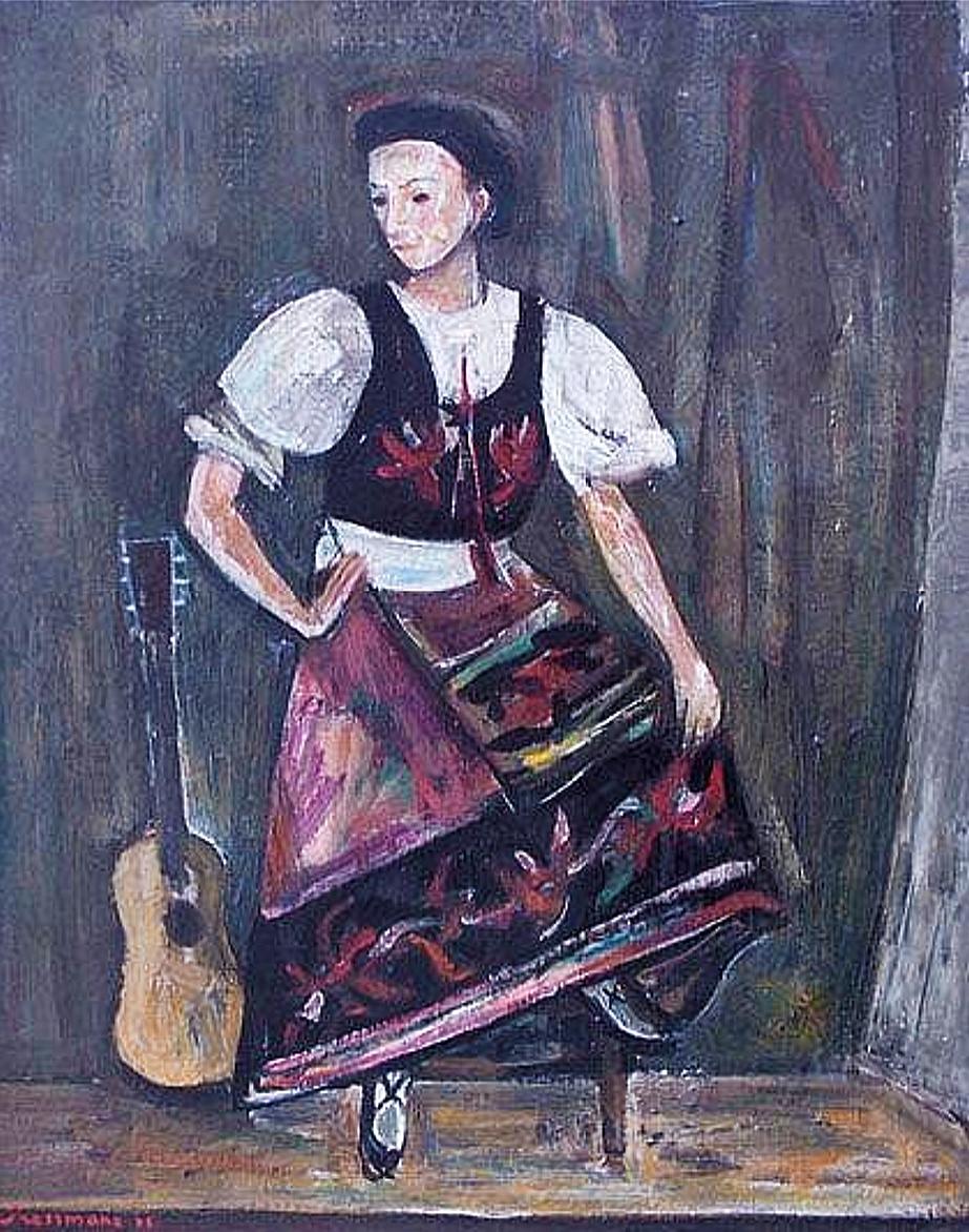 Жозеф Прессман. Українка 1945; олія, полотно