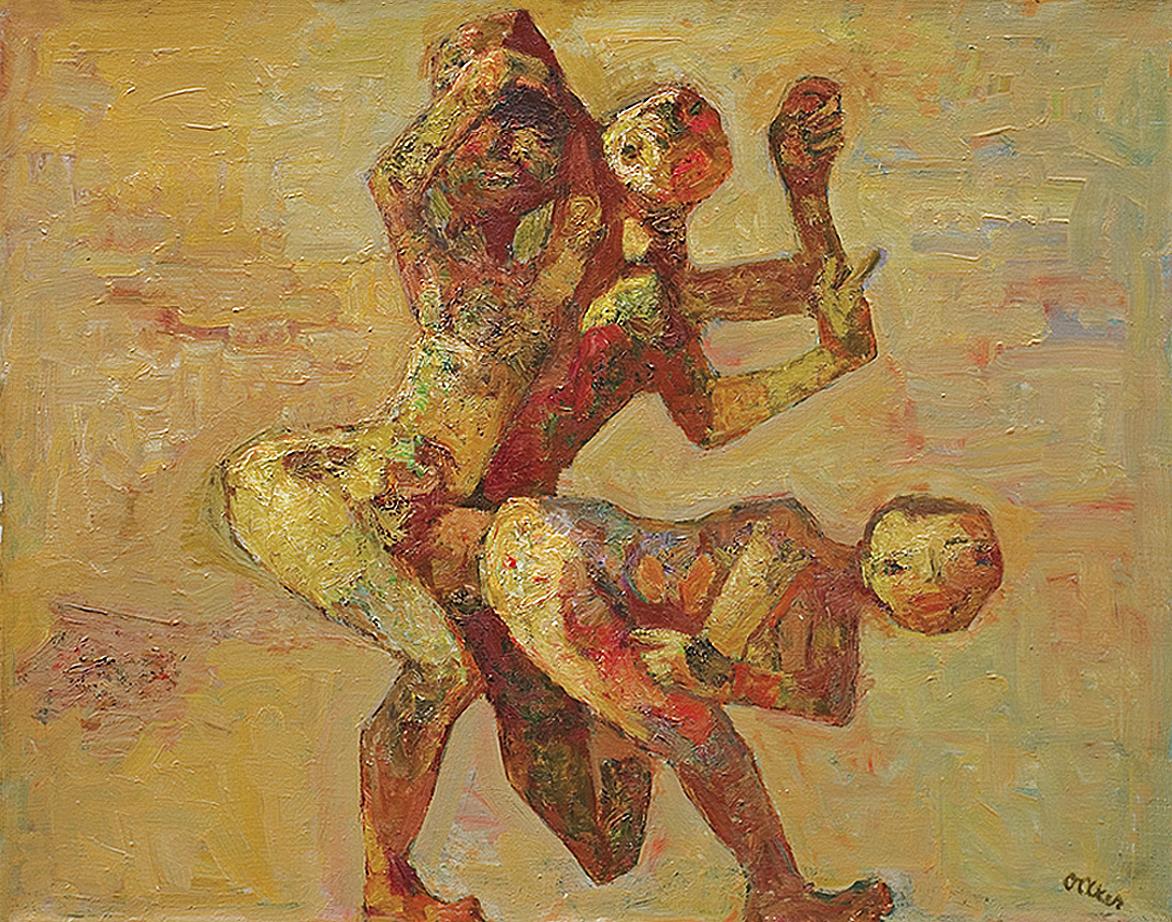 Отто Аксер. Пасакалія, 1970-ті, полотно, олія