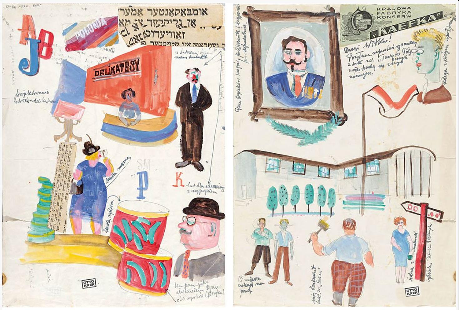 Отто Аксер. Торги Північні, 1930-ті, папір, акварель, мішана техніка