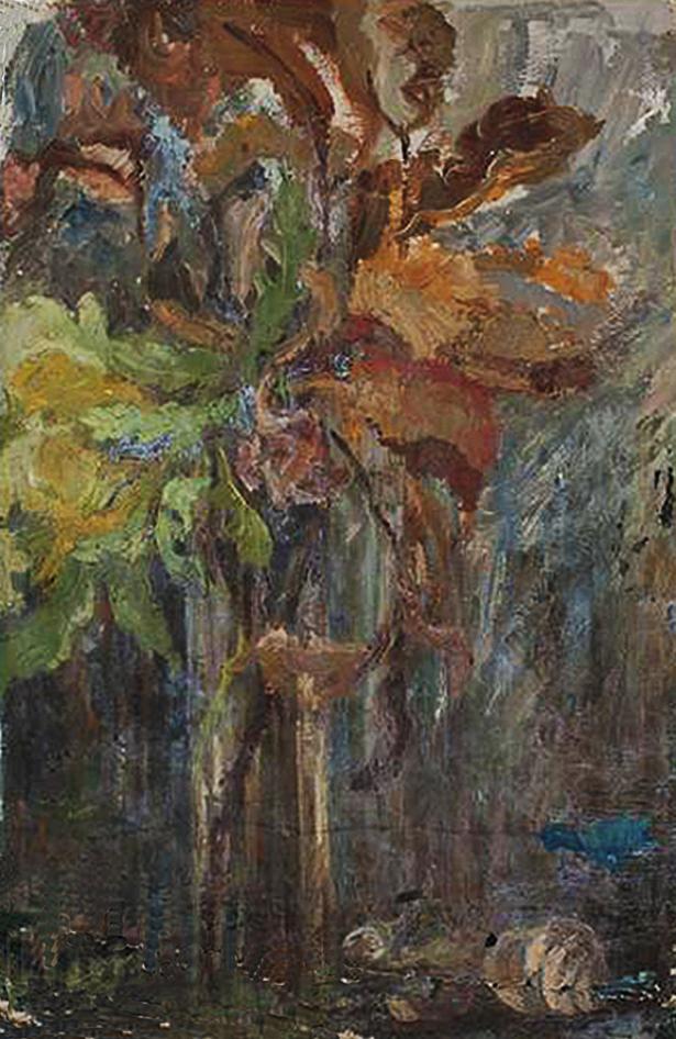 Марія Гіжберт-Студницька. Букет квітів 1920-30; олія, полотно, NMK