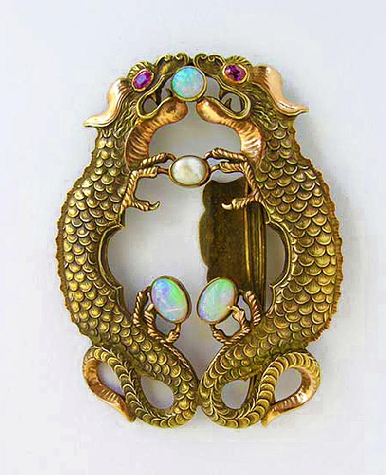 Марія Гіжберт-Студницька. Дизайн. Золота пряжка, 1920-ті
