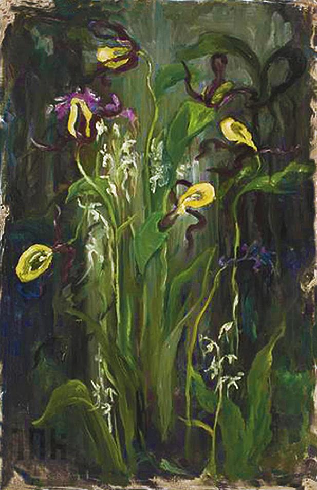 Марія Гіжберт-Студницька. Іриси, 1920-30; олія, полотно, NMK