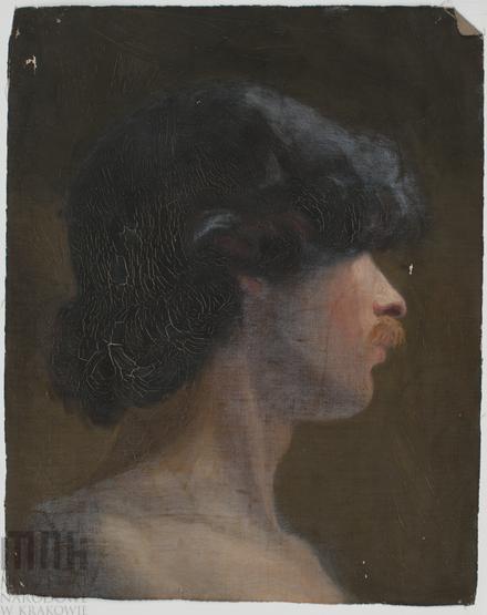 Марія Гіжберт-Студницька. Портрет молодого брюнета з рудими вусами, МНК