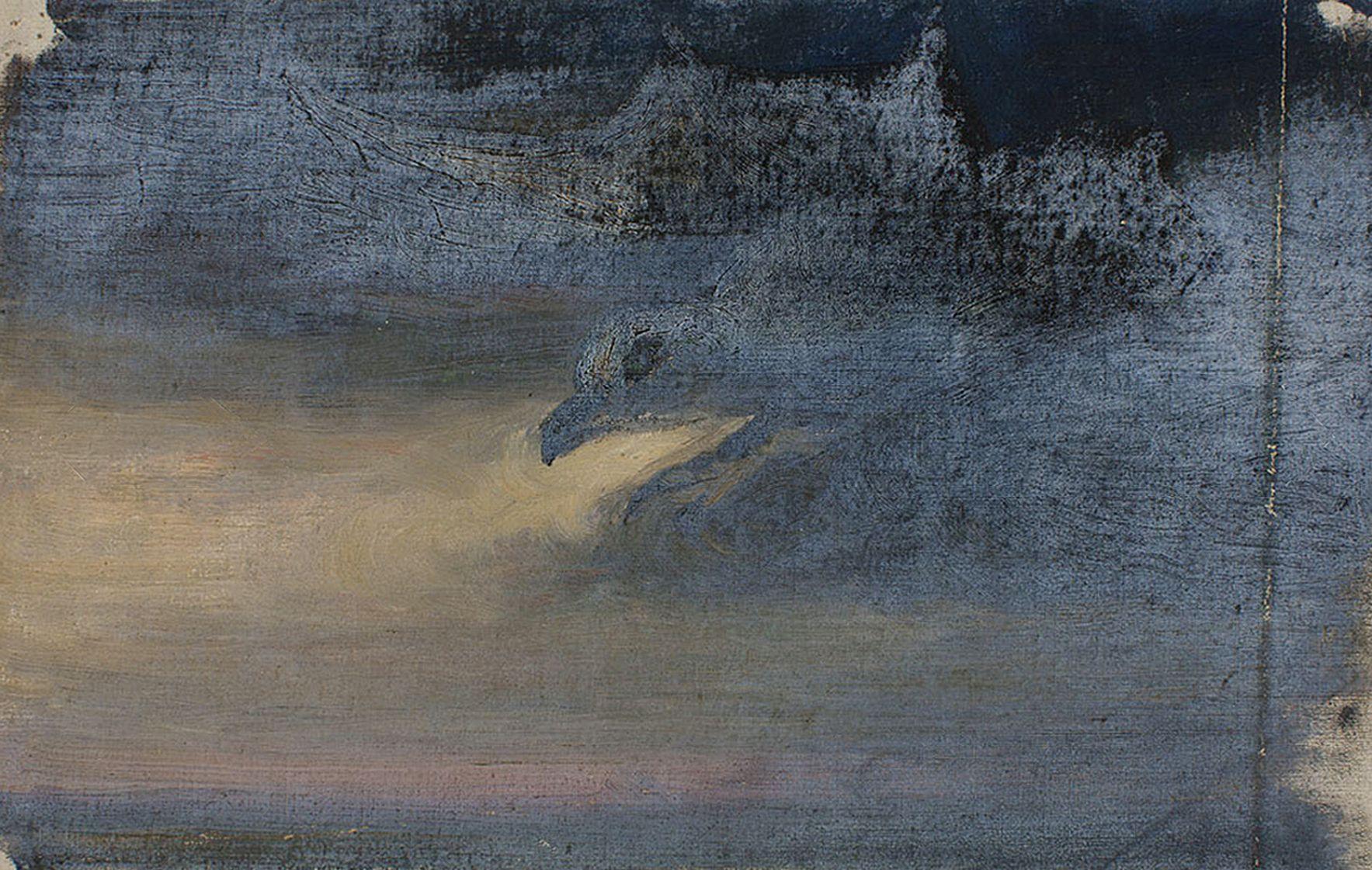 Марія Гіжберт-Студницька. Сутінки Птаха-привид, до 1939; картон, олія, NMK