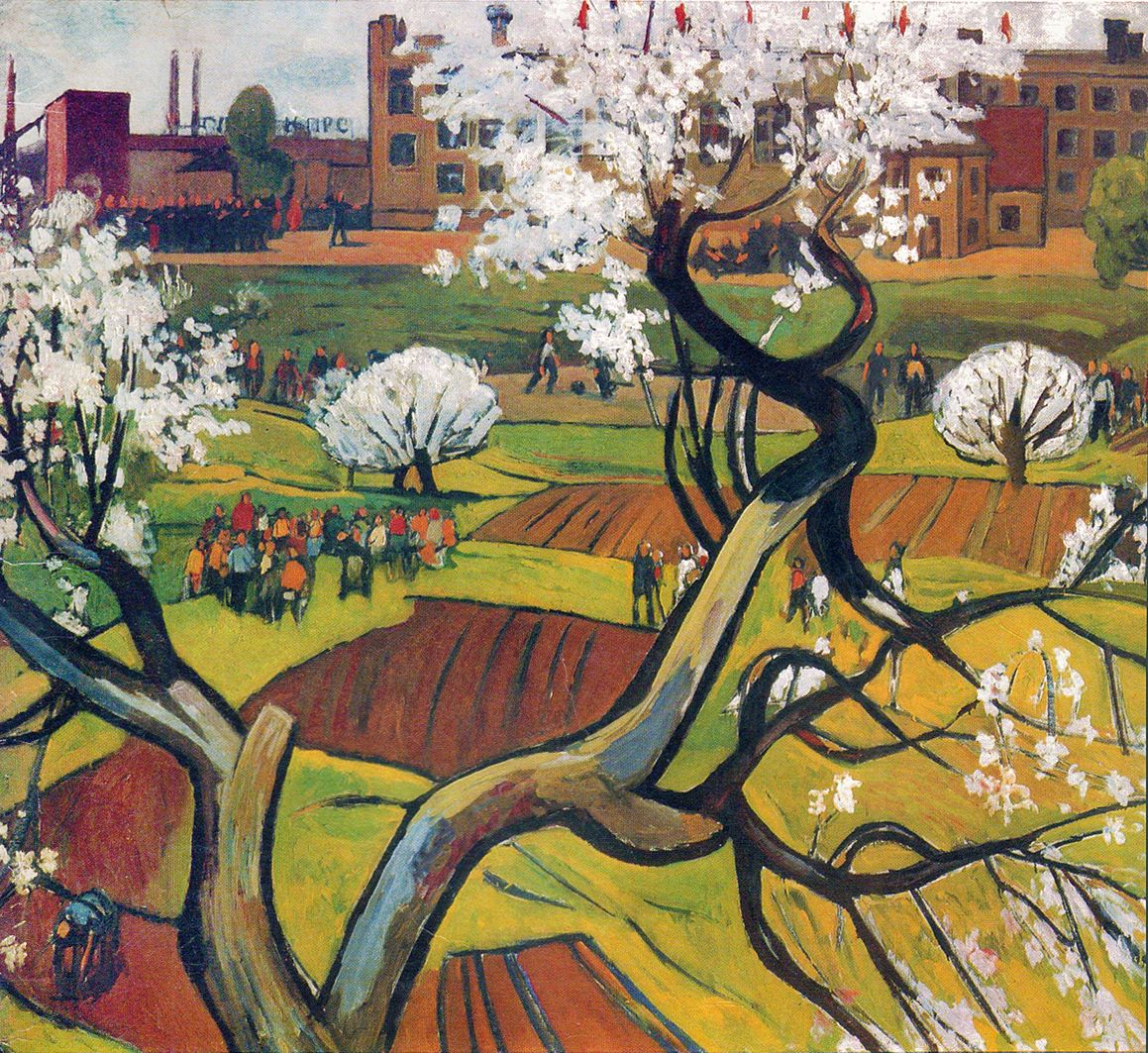 Михайло Ткаченко. Львівська весна, 1972; олія, полотно