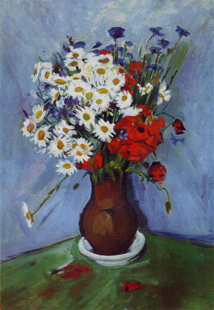 Михайло Ткаченко. Польові квіти, 1957; картон, олія