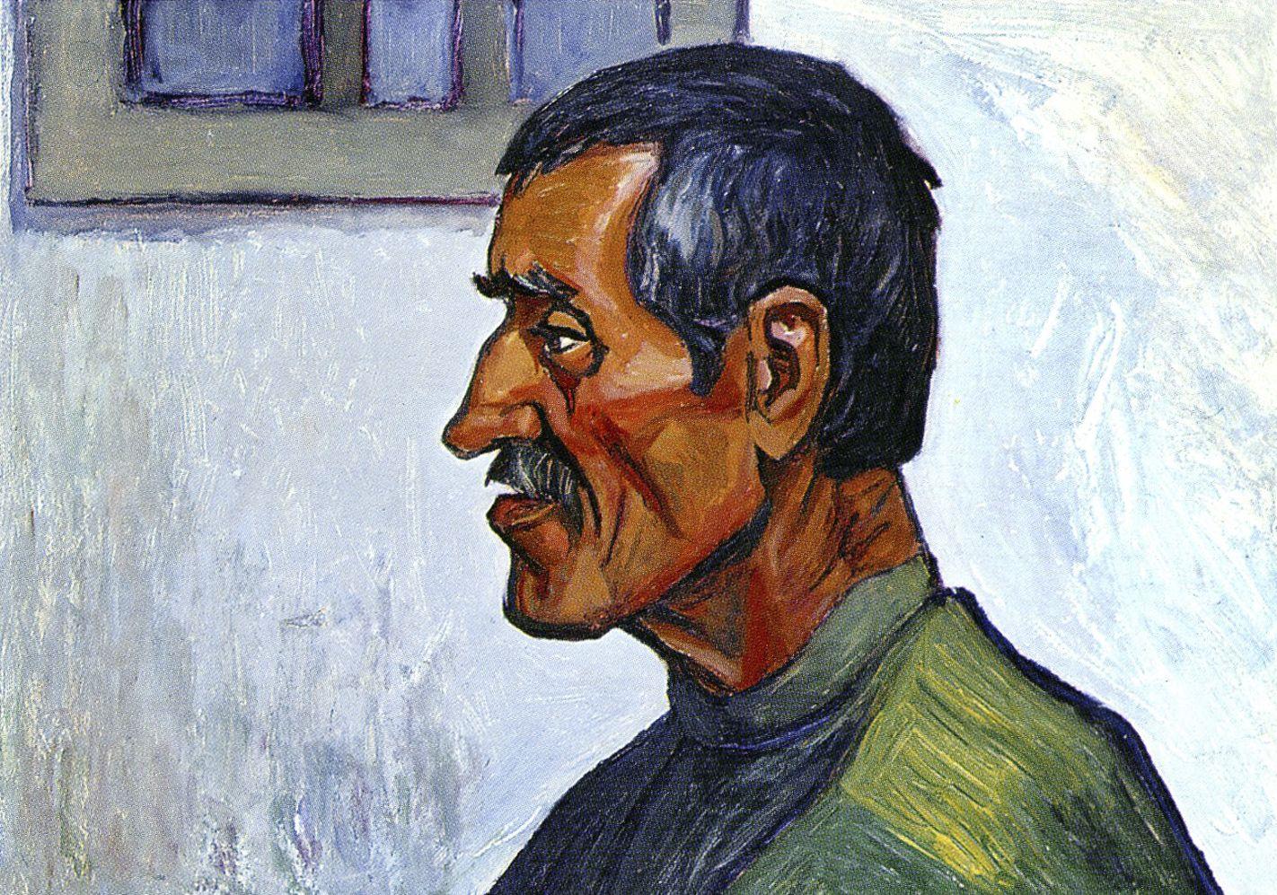 Михайло Ткаченко. Портрет батька, 1966; картон, олія