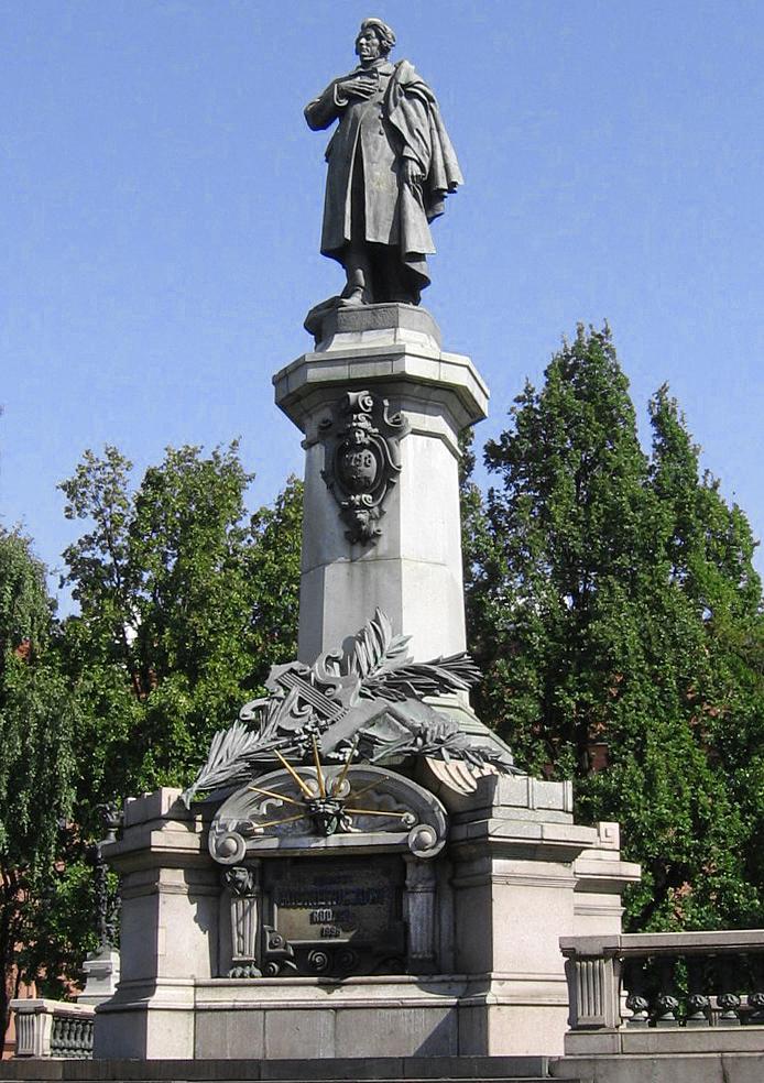 Ципріан Годебський. Пам'ятник Адаму Міцкевичу, Варшава, 1898; бронза