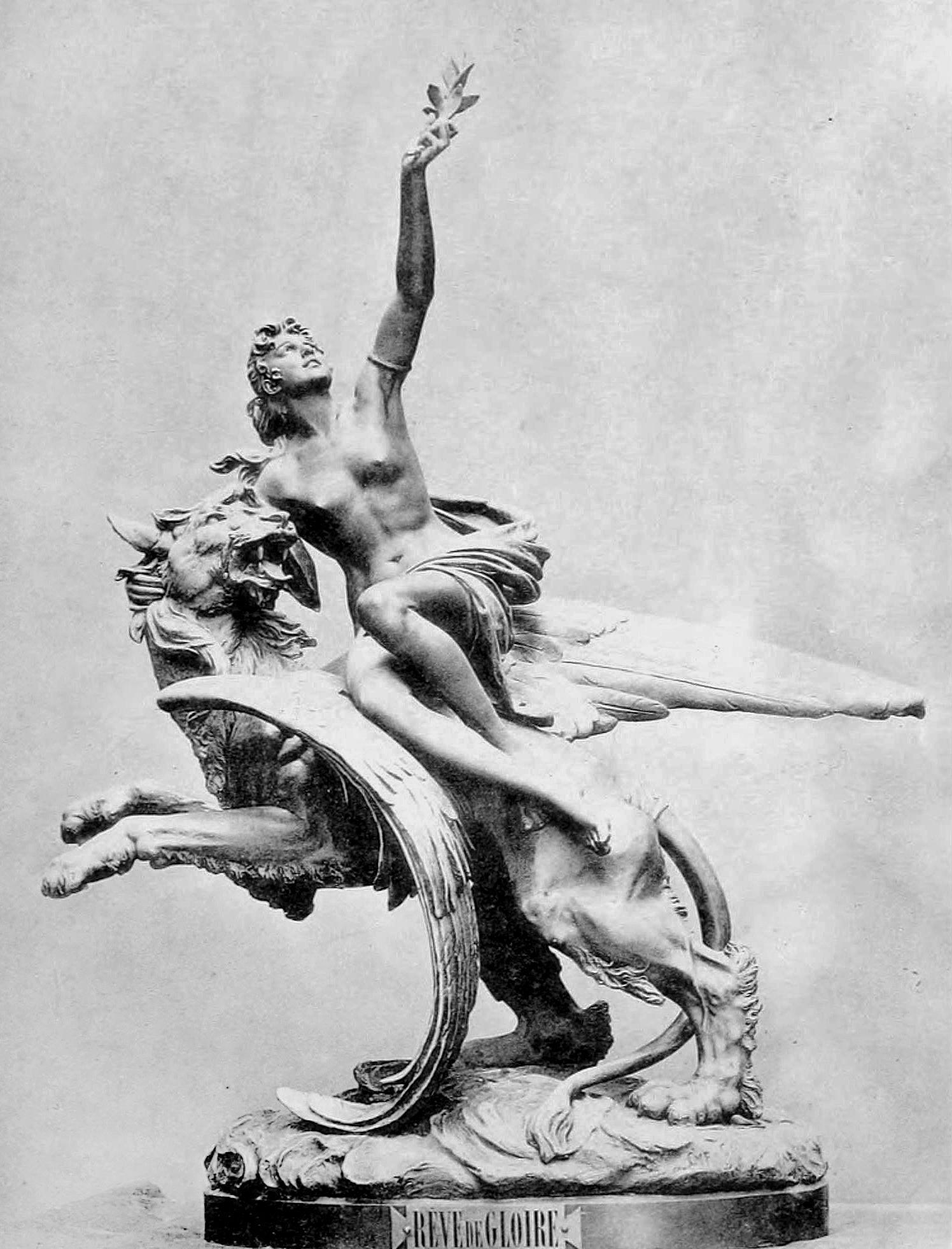 Ципріан Годебський. Мрія про славу, 1893; гіпс Львів