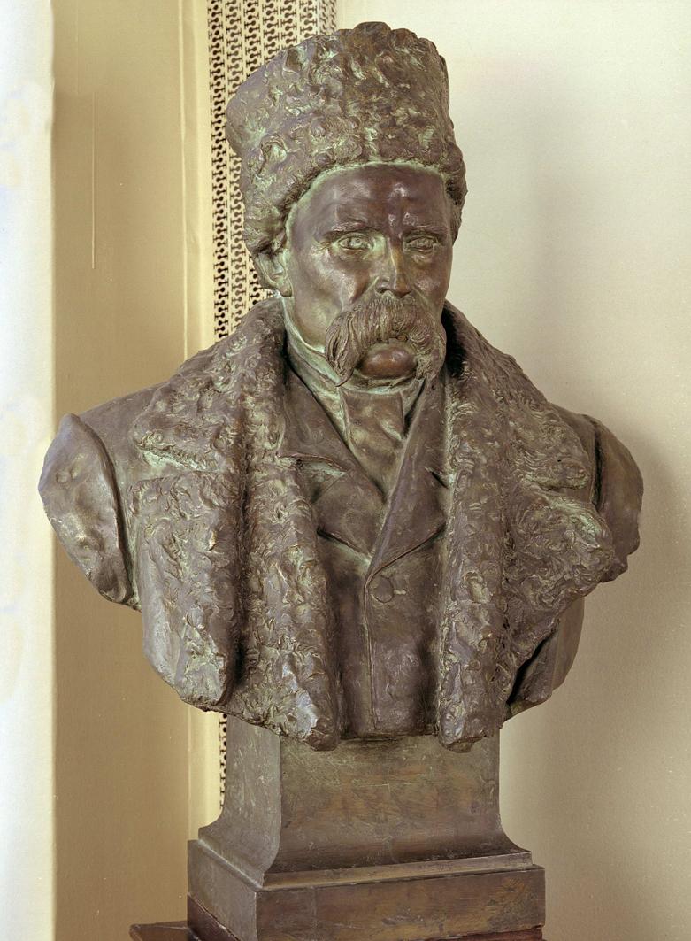 Ципріан Годебський. Тарас Шевченко, 1905; бронза, h-93, НМЛ