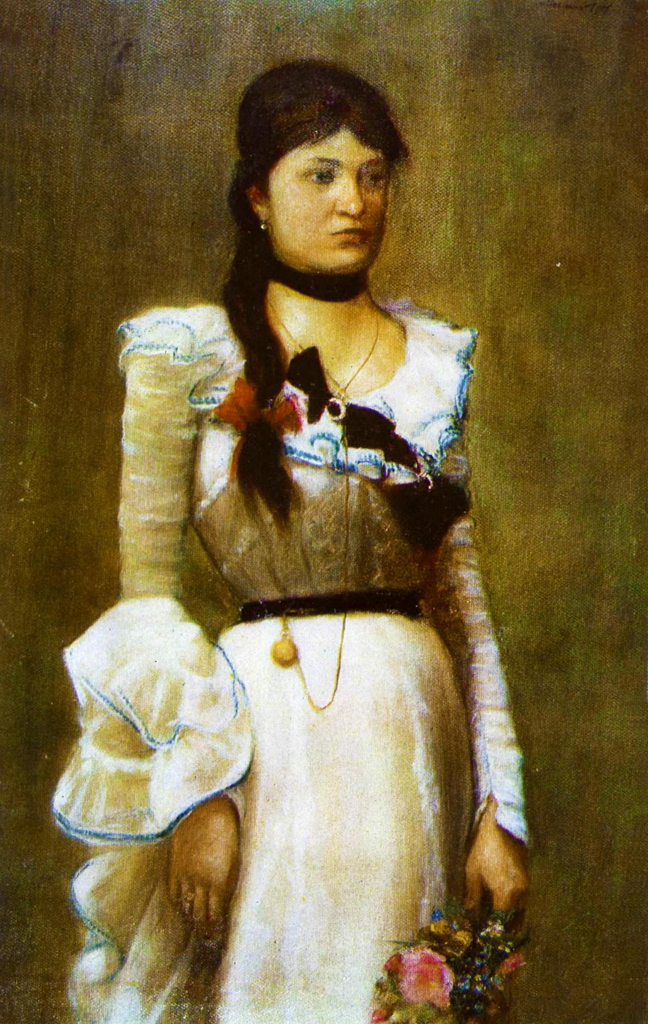 Модест Сосенко. Наталія Лотоцька, 1901; олія, полотно, НМЛ