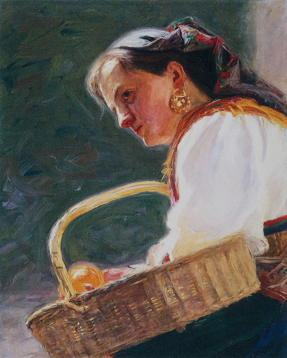 Модест Сосенко. Продавчиня поморанч, 1902; олія, полотно, НМЛ