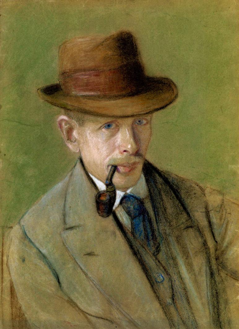 Модест Сосенко. Автопортрет, 1919; картон, пастель, НМЛ