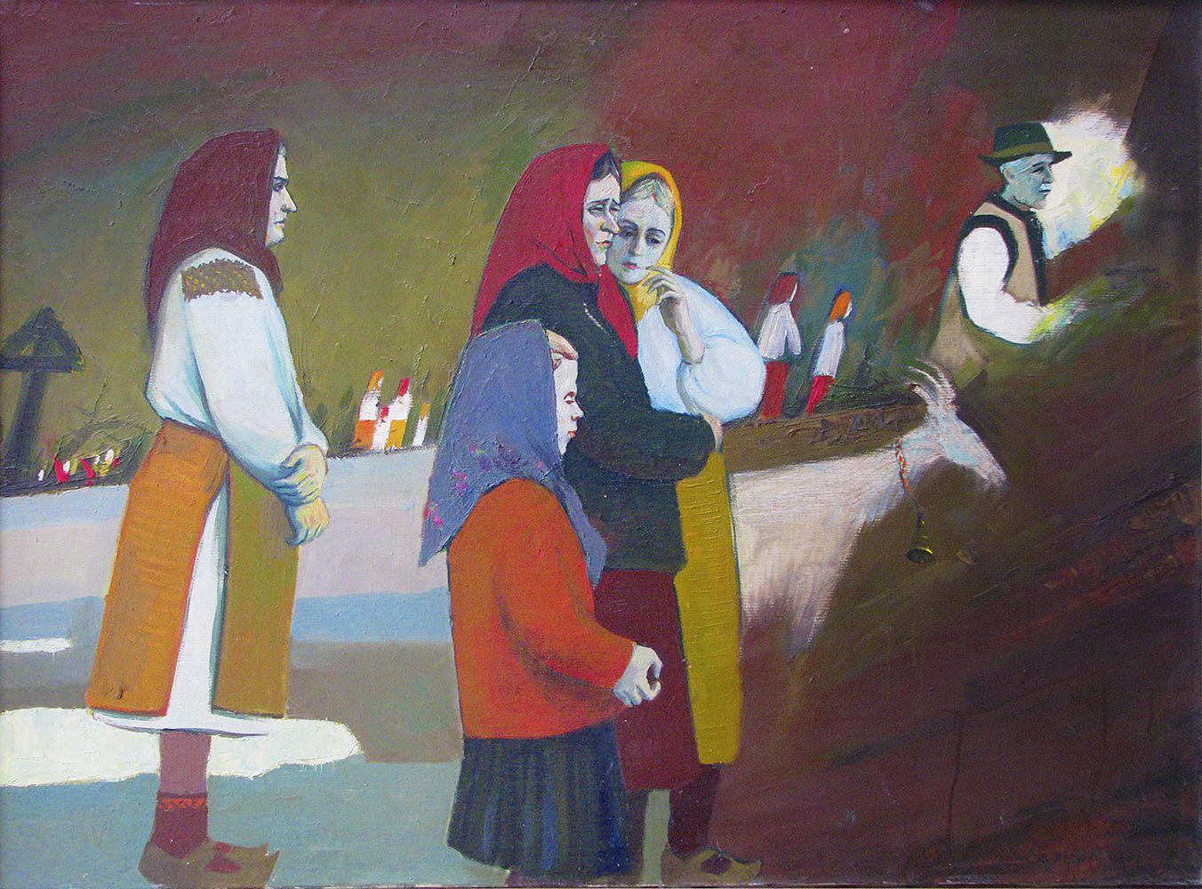 Юрій Лесюк. Чекання, 1989; полотно, олія; 80-100