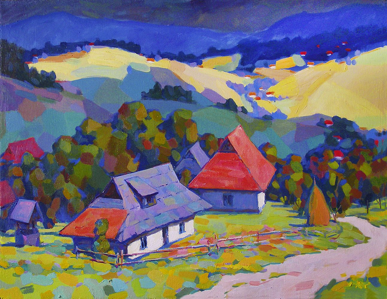 Юрій Лесюк. Горами, горами, 2007; полотно, олія; 70-90
