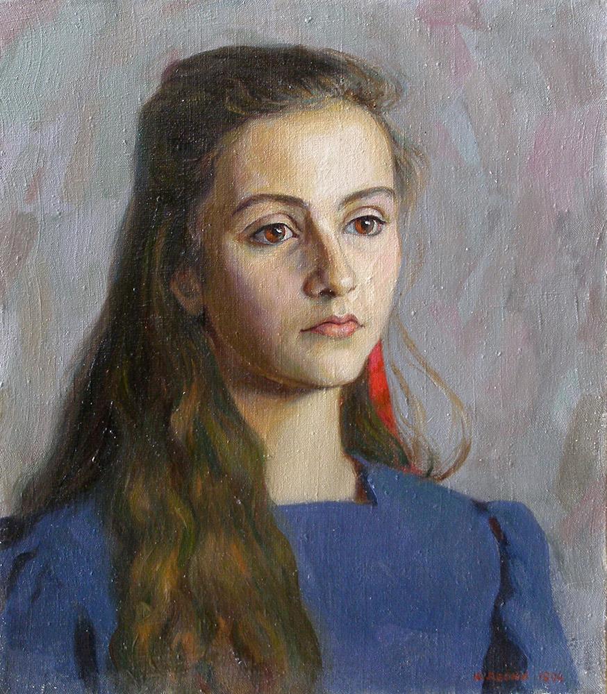 Юрій Лесюк. Катруся, 1994; полотно, олія; 60-50