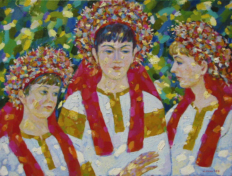 Юрій Лесюк. Княгині, 2010; полотно, олія; 60-80
