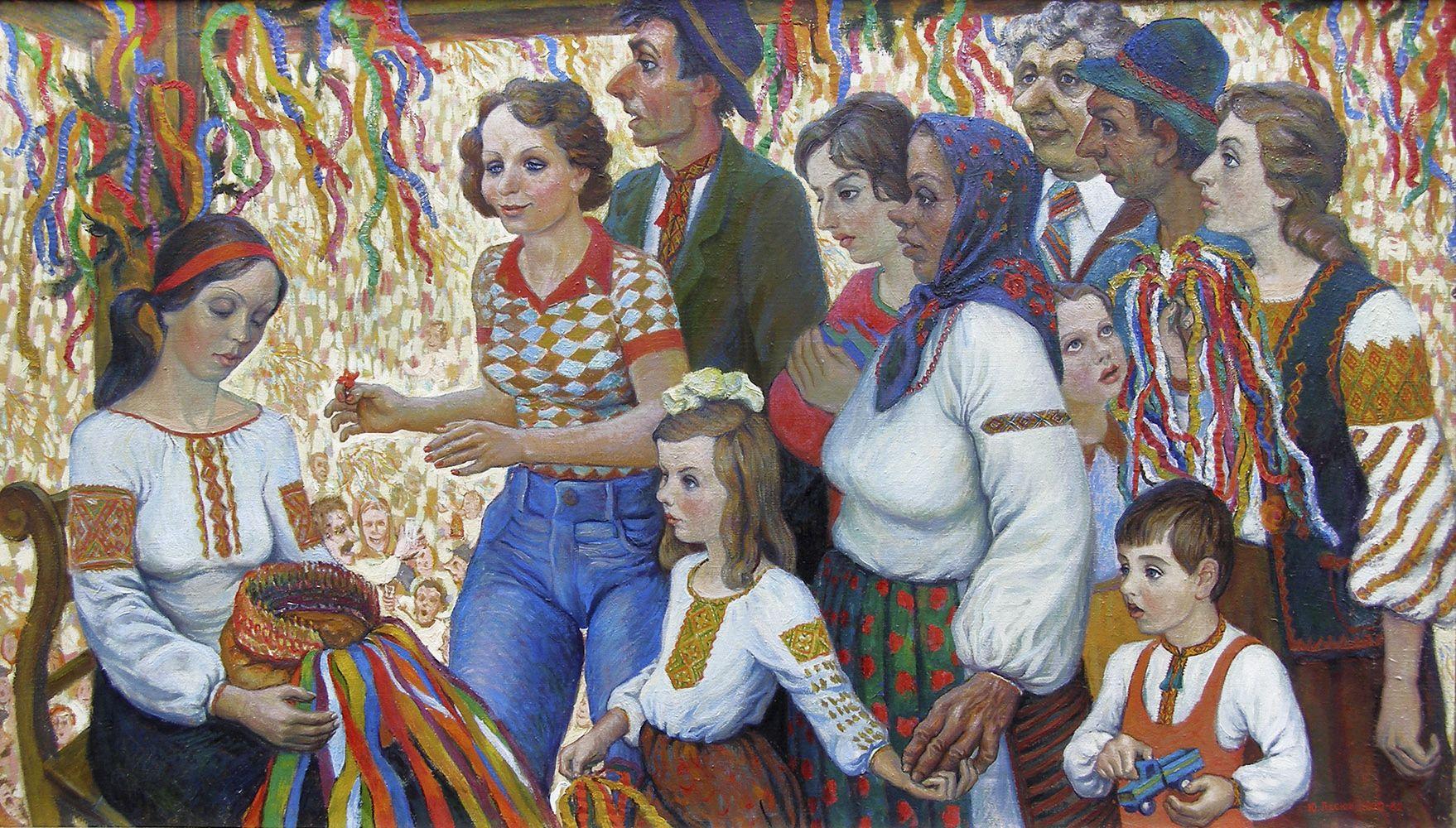Юрій Лесюк. Наречена, 1982; полотно, олія; 88-156