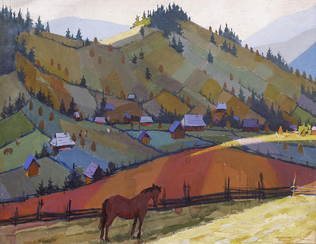 Юрій Лесюк. Спокій, 1996; полотно, олія; 67-88