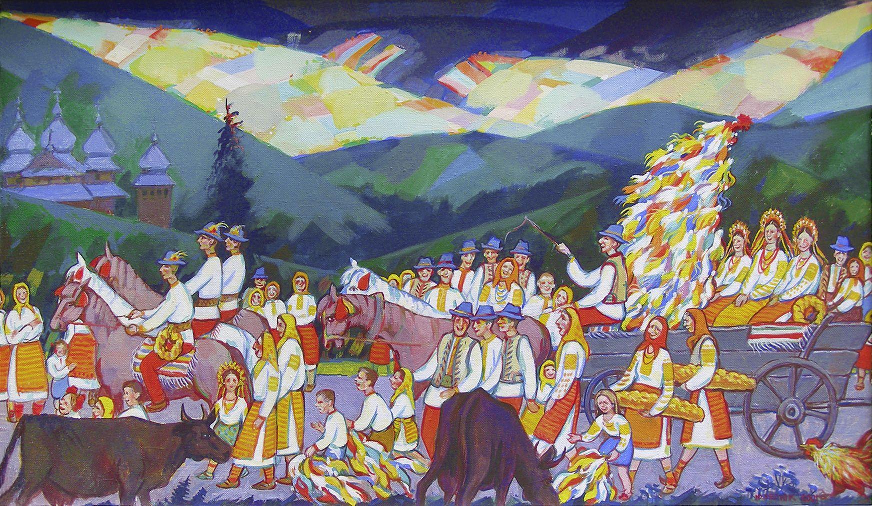 Юрій Лесюк. Таке було недавно, 2001; папір, акрил; 65-110