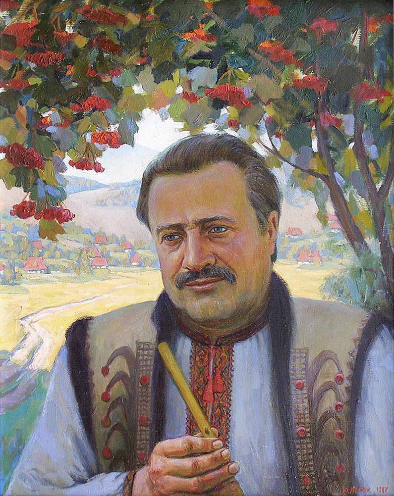 Юрій Лесюк. Василь Попадюк, 1987; полотно, олія; 75-60