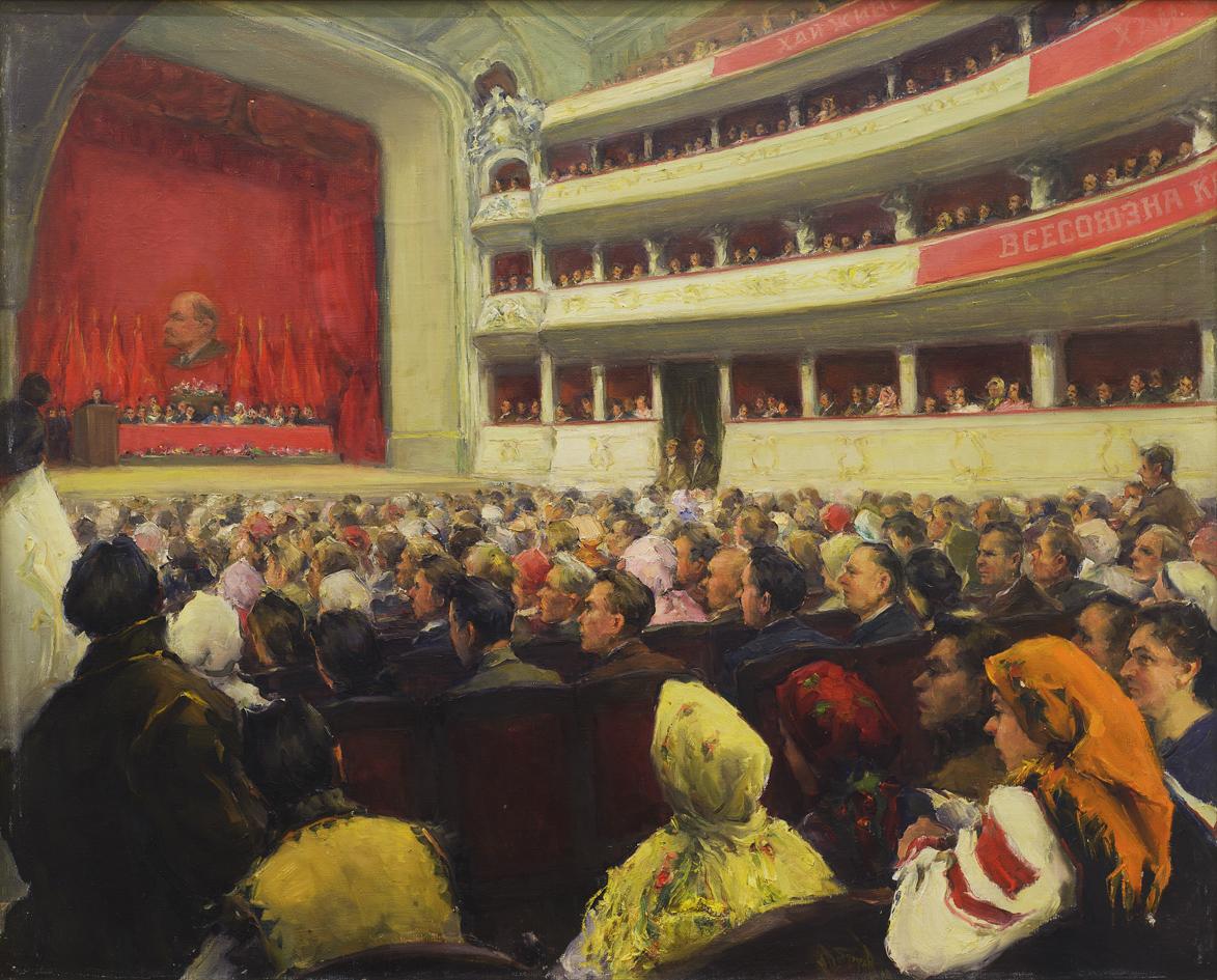 Михайло Добронравов. Народні збори у Львові 1939 року, 1960-і; полотно, олія