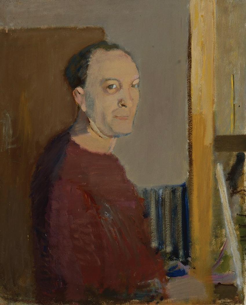 Артур Нахт-Самборський. Автопортрет, 1955; олія, полотно; NMP